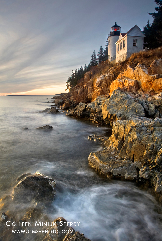 """Lighting the Way,""  Bass Harbor Head Lighthouse, Acadia National Park, Maine"